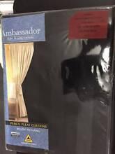 1 x set of 140cm - 220cm x 213cm charcoal pencil pleat curtains Craigmore Playford Area Preview