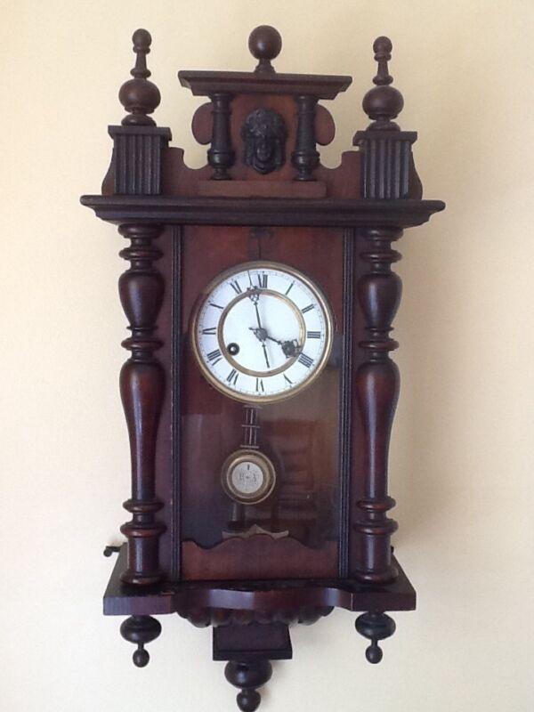 Antique German Pfeilkreuz Wall clock with R=A Pendulum c.1900