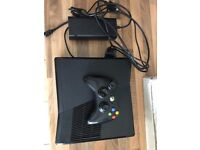 Xbox 360 Slim 250 GB with Wireless Adapter, Wires, Xbox 360 Controller and Charger
