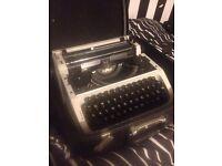 Typewriter For Sale Including Case
