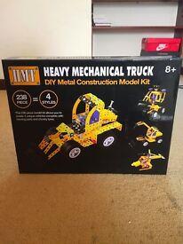 Heavy Mechanical Truck, DIY Metal Construction Model Kit