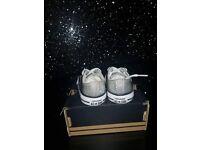 Silver glitter converse size 3