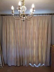 Thermal and blackout lined curtains