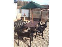 Cast iron patio furniture