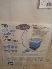 Cot mattress - brand new never been used