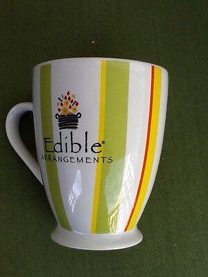 Edible Arrangements Large 16 Oz Yellow   Green Floral  Logo Coffee Latte Mug