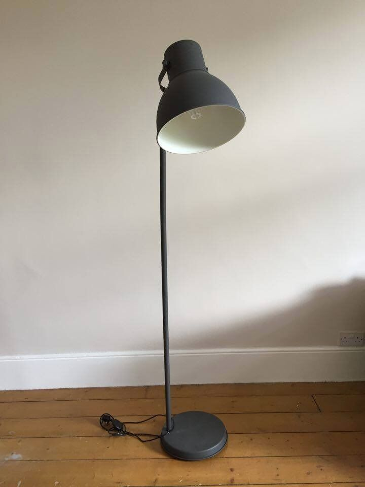 like new ikea hektar floor lamp dark grey in blackheath. Black Bedroom Furniture Sets. Home Design Ideas