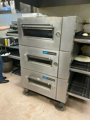 Lincoln Impinger 1600 Triple Stack Gasconveyor Pizza Oven 15000 Or B.o.