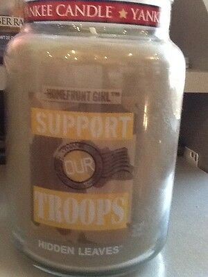 Yankee Girl (Yankee candle homefront girl support our troops hidden leaves USA htf )
