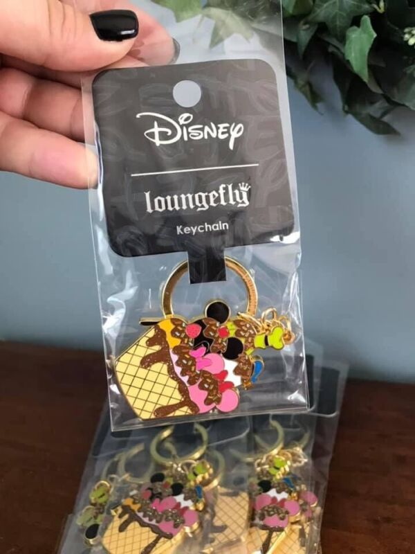 Disney Loungefly Mickey And Friends Ice Cream Sundae Keychain