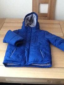 Boys Fleece Lined Padded Jacket 4/5yrs