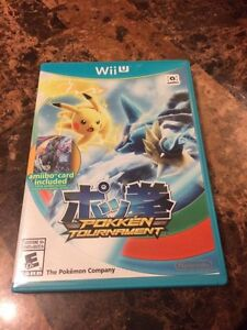 Pokken tournament with sealed amiibo card