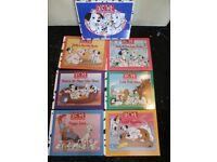 DISNEY BOOK CLUB 101 DALMATIANS BOOKS X 6 SET IN SLIP CASE