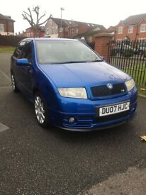 SKODA FABIA VRS SPECIAL EDITION PD130 LIMITED EDITION RACING BLUE PX