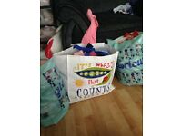 3 bags of 0-3/ newborn girls clothes.