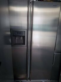 Samsung American stainless steel fridge freezer, water dispenser,good condition, 3 months warranty