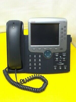 Cisco 7970 Office Ip Touch Display Phone W Handset And Stand Used