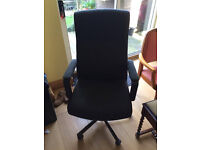 Black Office Chair Adjustable