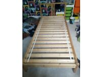 IKEA single wooden bed with Sultan slats