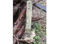 3 fence posts for free to a good home