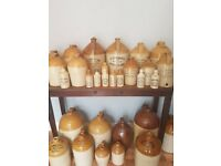 Wanted Antique Old bottles / stoneware flagons / and Swansea maker Clocks, Mumbles Gower