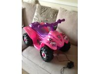 Battery powered ride on toy quad bike