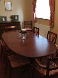 """Dining table and 4 chairs £280 64"""" extends to 81"""" extra chairs if needed. Must go soon"""