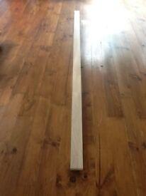 Primed oak wooden worktop upstand