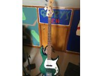 Peavey bass guitar and amp