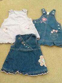 Three 0-3 mths girls dresses, immaculate