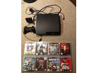 320GB Playstation 3 Console With PS3 Eyetoy Camera/Microphone + 8 Games