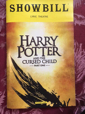Harry Potter And The Cursed Child Playbill Showbill Parts 1 And 2 Broadway