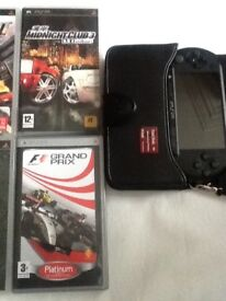 Psp street with games and accessories very good working condition