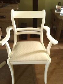dinning table & 4 chairs in shabby chic treatment