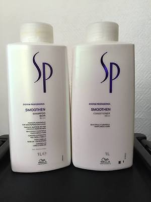 Wella SP Smoothen Shampoo and Conditioner 1000ml