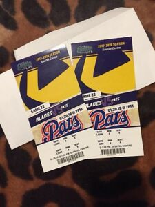Blades vs pats hockey tickets $20