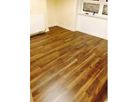 7mm Domestic laminate flooring You Pay £275 for Flooring fully fitted !!!
