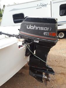 18 foot skiff with 55 Johnson