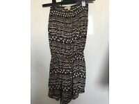 Aztec Beige and Black Play Suit