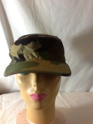 Nice CAMO ARMY MILITARY Hat, Size 7 1/4, Nylon And Cotton, A COOL MUST HAVE.