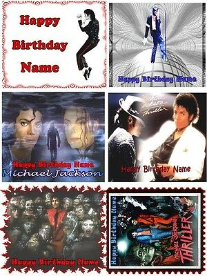 EDIBLE CAKE IMAGE MICHAEL JACKSON TOPPER ICING SUGAR FROSTING SHEET PARTY DECOR](Michaels Cake Toppers)