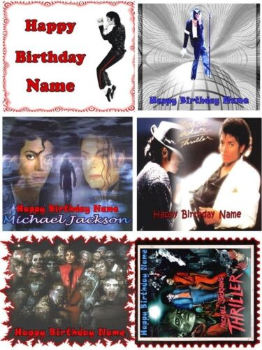 EDIBLE CAKE IMAGE MICHAEL JACKSON TOPPER ICING SUGAR FROSTING SHEET PARTY DECOR