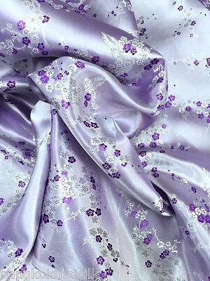 Purple Lavender Cherry Blossom Dogwood Brocade Material Fabric BTY Dress Blouse](Purple Brocade Dress)