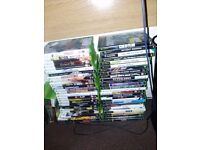 120 GB xbox 360 and over 30 games 1 controller and a small HD TV perfect working order