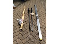 Selection of curtain poles and tracks.