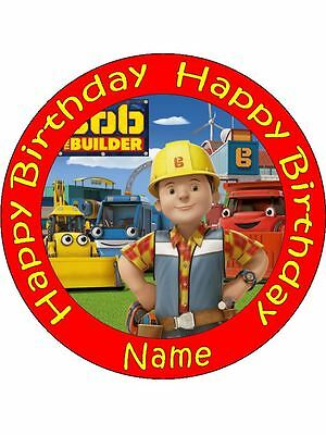 BOB THE BUILDER 19cm Edible Icing Image Birthday Cake Topper Decoration Bob The Builder Cake Decorations