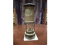 Vintage Welsh Brass Miner's Lamp from E. Thomas and Williams Ltd of Wales.