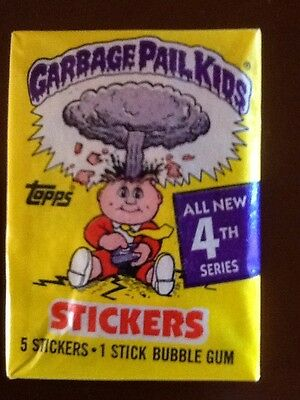 Garbage Pail Kids card pack - Series 4 Unopened - Topps - Bubble Gum - Rare GPK