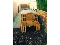 Child's wooden playhouse age from 3-5 years