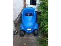 Little tikes blue car an a tractor